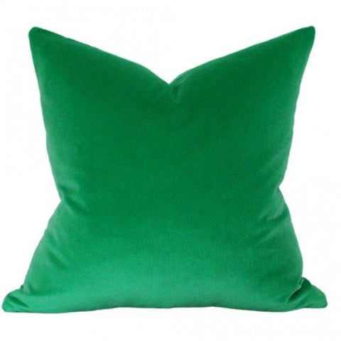 Emerald Green Velvet Custom Designer Pillow | Arianna Belle