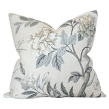 Emperor's Garden Grey Custom Designer Pillow | Arianna Belle