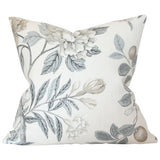 Emperor's Garden Grey Custom Designer Cushion | Arianna Belle