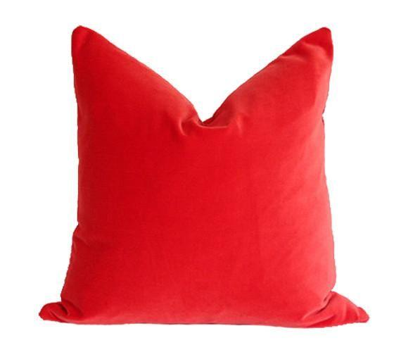 Flame Velvet Custom Designer Pillow | Arianna Belle