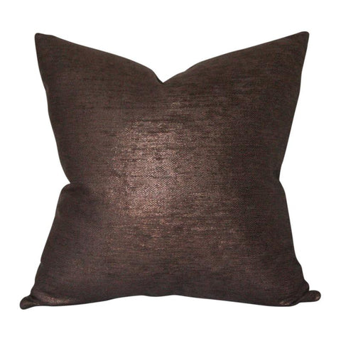 Glimmer Bronze Custom Designer Pillow | Arianna Belle