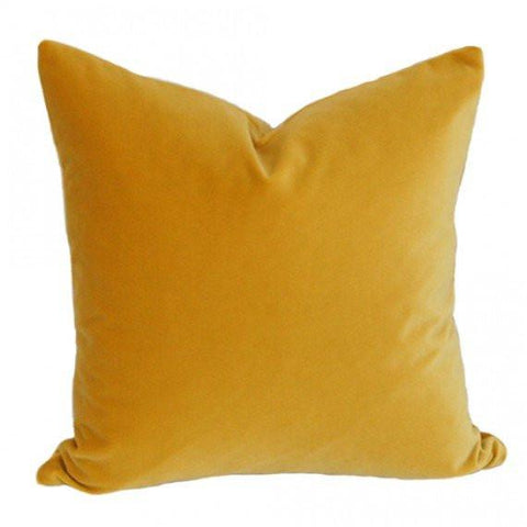 Golden Yellow Velvet pillow