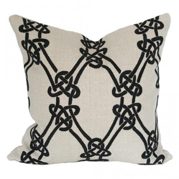 Gordian Weave Greige pillow