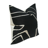 Graffito Onyx & Cream Custom Designer Pillow side view | Arianna Belle