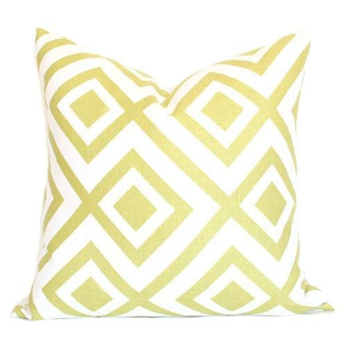 La Fiorentina Light Green & Ivory Custom Designer Pillow | Arianna Belle