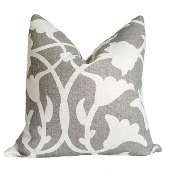 Poetical Grey Custom Designer Pillow | Arianna Belle