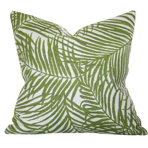 Heat Wave Pillow - Green Palms