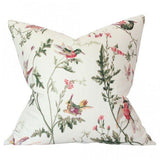 Hummingbirds Cream Custom Designer Pillow | Arianna Belle