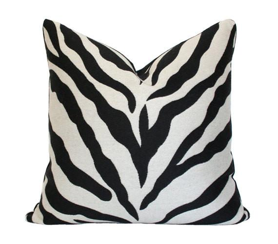Zebra print pillow cover