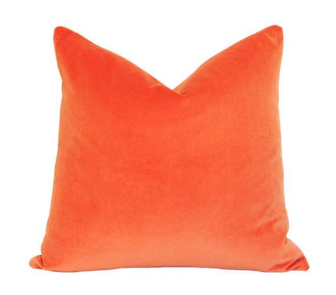Orange Velvet pillow cover