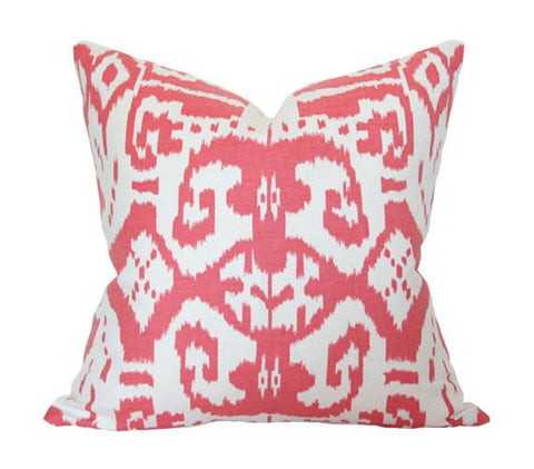 Island Ikat Watermelon pillow cover