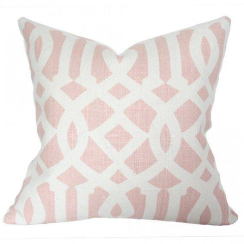 Imperial Trellis Blush Custom Designer Pillow | Arianna Belle