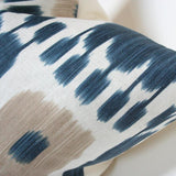 Kandira Indigo Blue Custom Designer Pillow detailed view | Arianna Belle