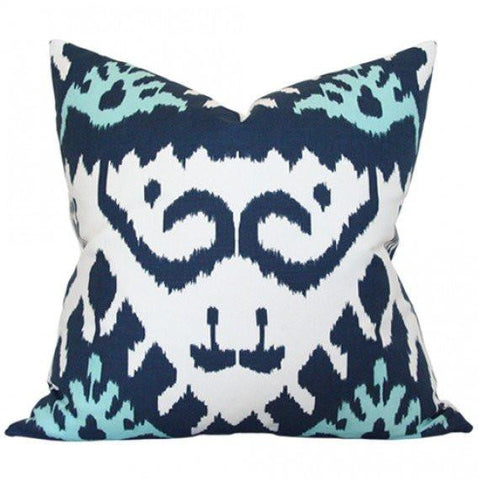 Kazak Blue Custom Designer Pillow | Arianna Belle