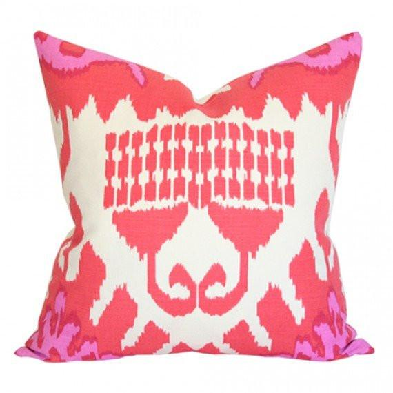 Kazak Orange & Pink Custom Designer Pillow | Arianna Belle