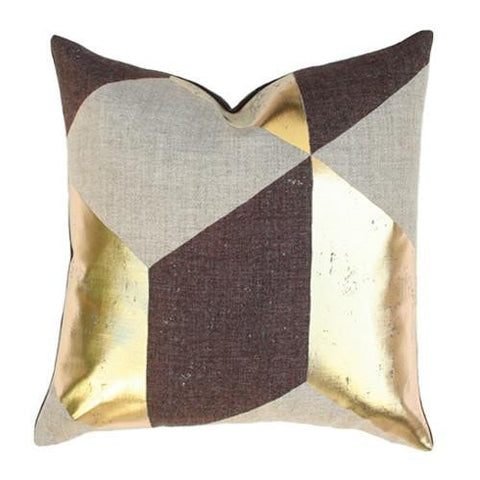 Kubus Gold Custom Designer Pillow | Arianna Belle