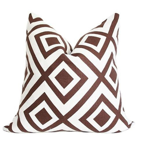 La Fiorentina Brown Custom Designer Pillow | Arianna Belle