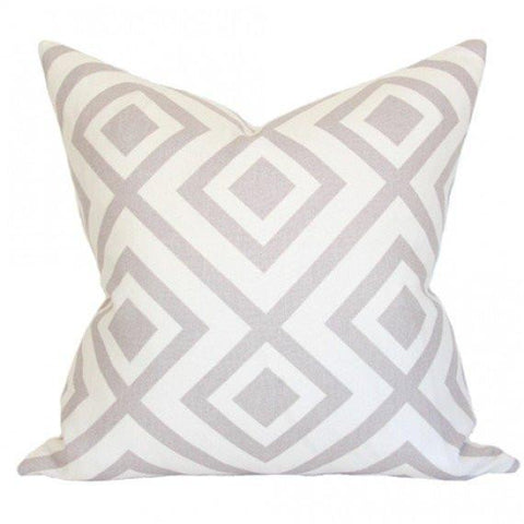 La Fiorentina Light Grey & Ivory Custom Designer Pillow | Arianna Belle