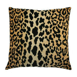 "Leopard Velvet Pillow - size 22"" and larger"
