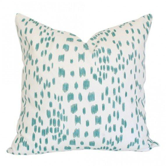 Les Touches Aqua Custom Designer Pillow | Arianna Belle