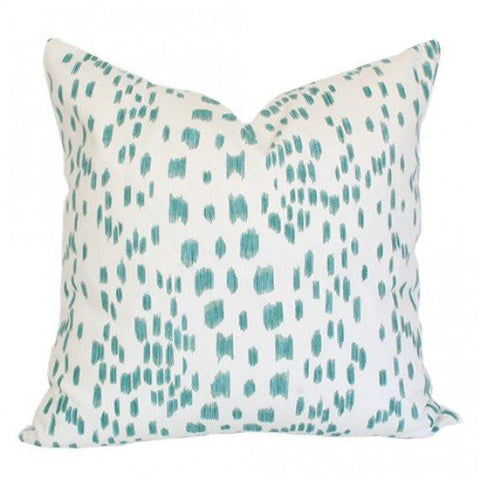 Les Touches Aqua pillow