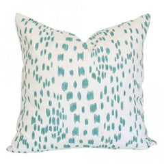 Les Touches Aqua designer pillow from Arianna Belle