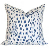 Les Touches Blue Custom Designer Pillow | Arianna Belle