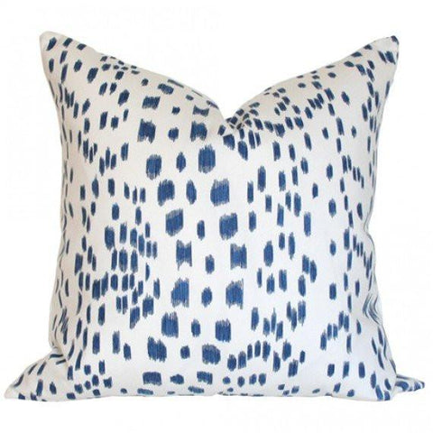 Les Touches Blue pillow