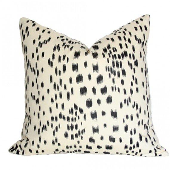 Les Touches Black Custom Designer Cushion | Arianna Belle
