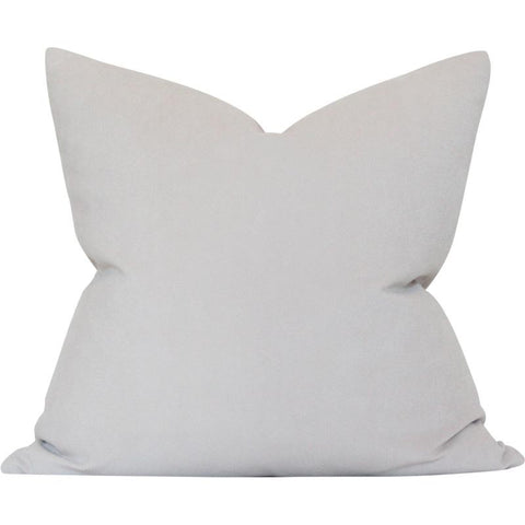 Light Greige Performance Velvet Custom Designer Pillow | Arianna Belle