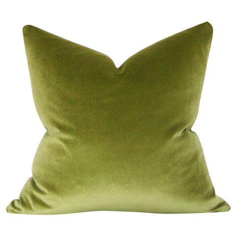 Olive Green Velvet Custom Designer Pillow | Arianna Belle
