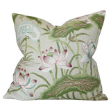 DESIGN A Lotus Garden Parchment Custom Designer Pillow | Arianna Belle
