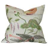 DESIGN B Lotus Garden Parchment Custom Designer Cushion | Arianna Belle