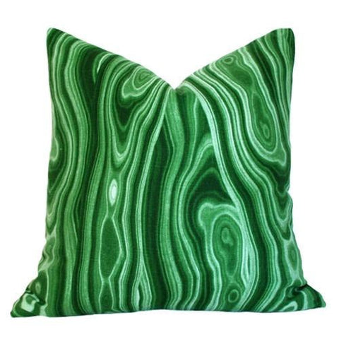 Malakos Malachite Green Custom Designer Pillow | Arianna Belle