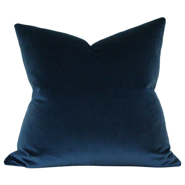 Midnight Blue Velvet Custom Designer Pillow | Arianna Belle