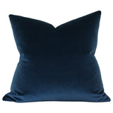 Midnight Blue Velvet Designer Pillow  | Arianna Belle