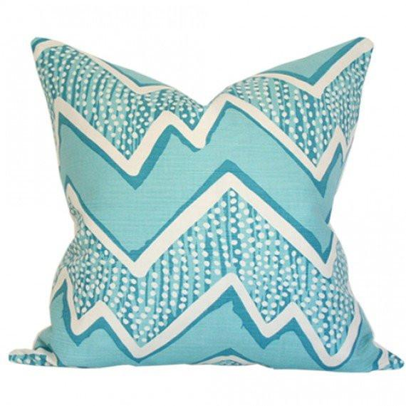 Montecito Turquoise on Tint Custom Designer Pillow | Arianna Belle