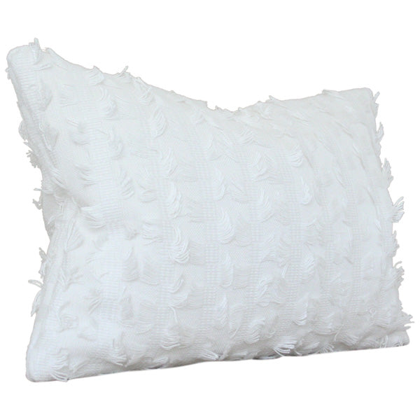Montego Fringe Custom Designer Pillow side view | Arianna Belle
