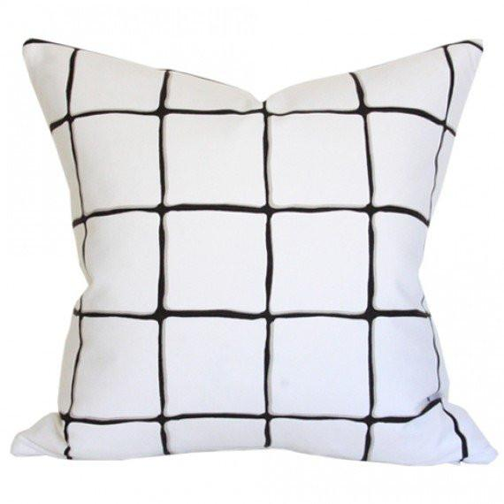 Painted Check Ink pillow
