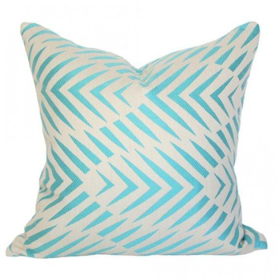 Palmwood Turquoise pillow