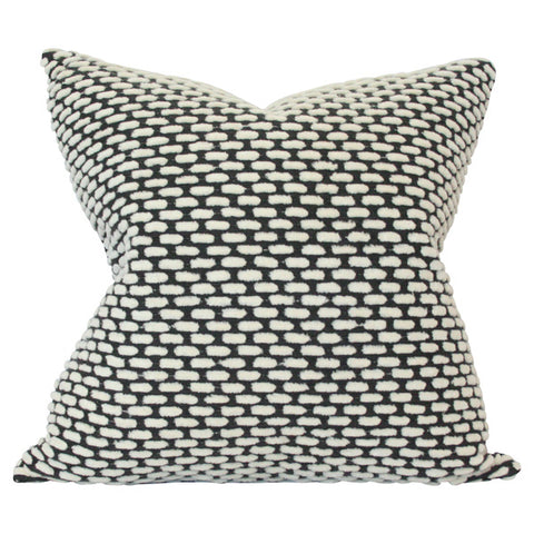 Pebble Onyx Reverse Custom Designer Pillow | Arianna Belle