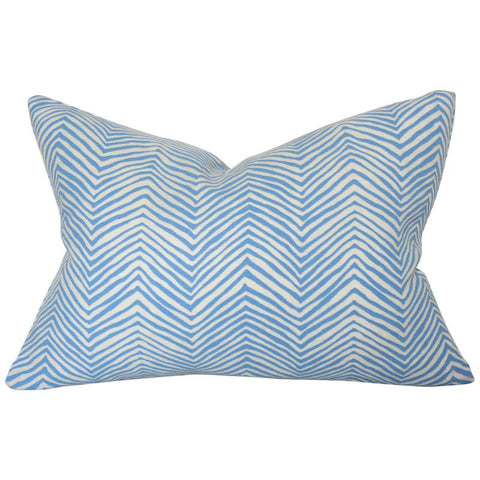 Petite Zig Zag French Blue Custom Designer Pillow | Arianna Belle