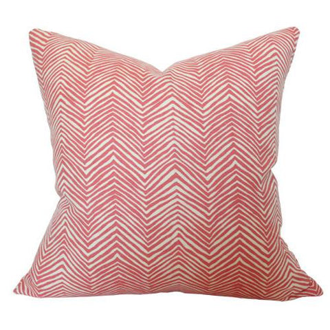 Petite Zig Zag Coral Shrimp on Tint Custom Designer Pillow | Arianna Belle