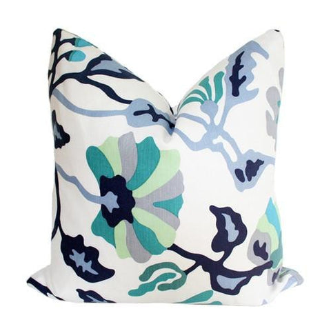 Potalla Multi Blues Quadrille Alan Campbell pillow