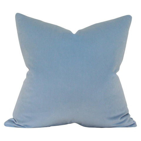 Powder Blue Velvet Custom Designer Pillow | Arianna Belle