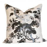 Pyne Hollyhock Charcoal Custom Designer Cushion | Arianna Belle