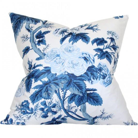 Pyne Hollyhock Indigo Custom Designer Cushion | Arianna Belle