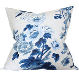 Pyne Hollyhock Indigo Blue Designer Pillow | Arianna Belle