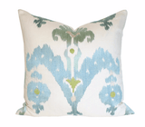 Raja Embroidery Sky Custom Designer Pillow | Arianna Belle