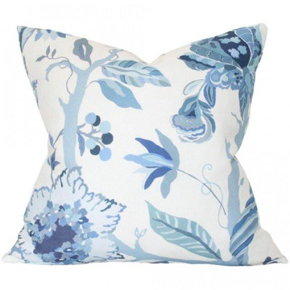 Sayre Blue Custom Designer Pillow | Arianna Belle